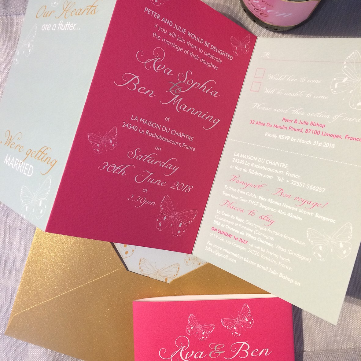 Flo & Burt Wedding Stationery - South Farm