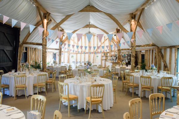 Inside our Essex Barn Wedding Venue Ready for a Reception