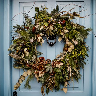 Wreath Festive Christmas Wedding South Farm Rural