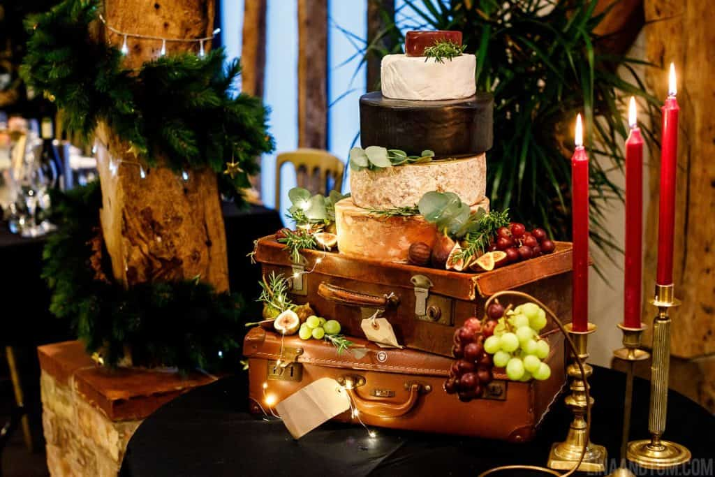 Winter Wedding Cheese Stack