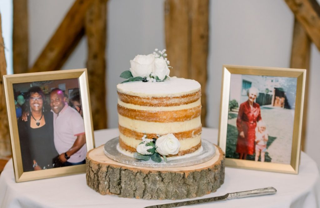 Wedding Cake at Rustic Barn Wedding