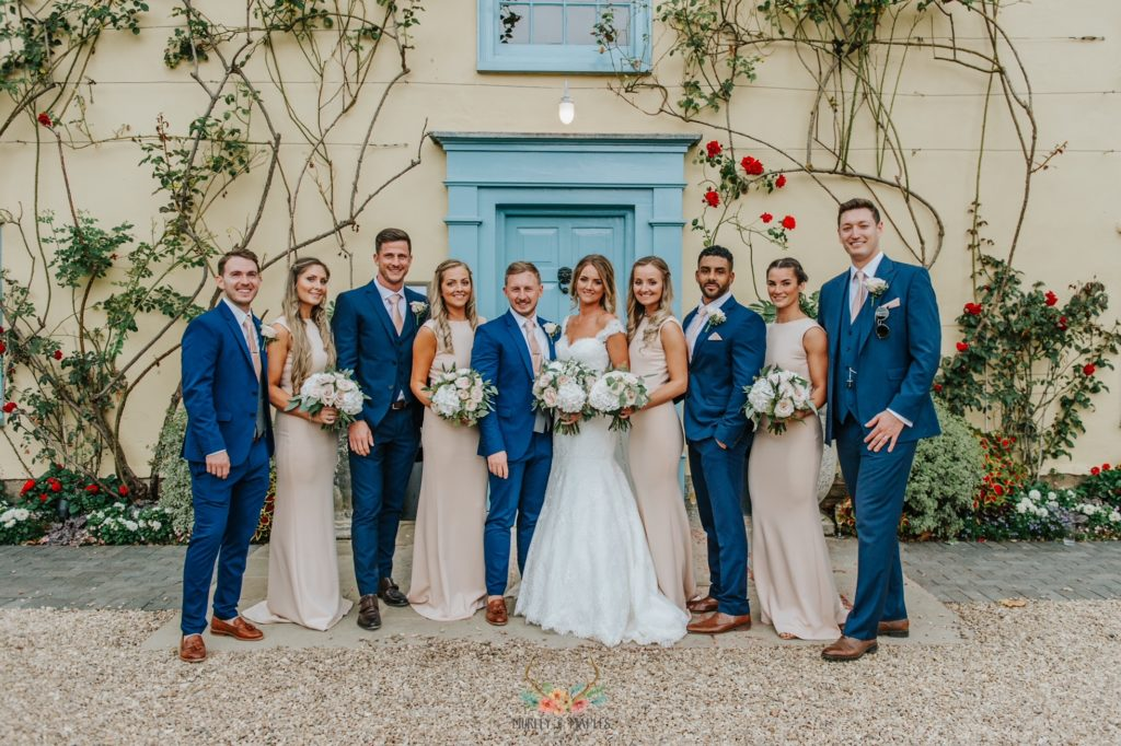 Bridal Party at Countryside Wedding Venue